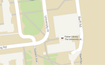 Fisher Library location map