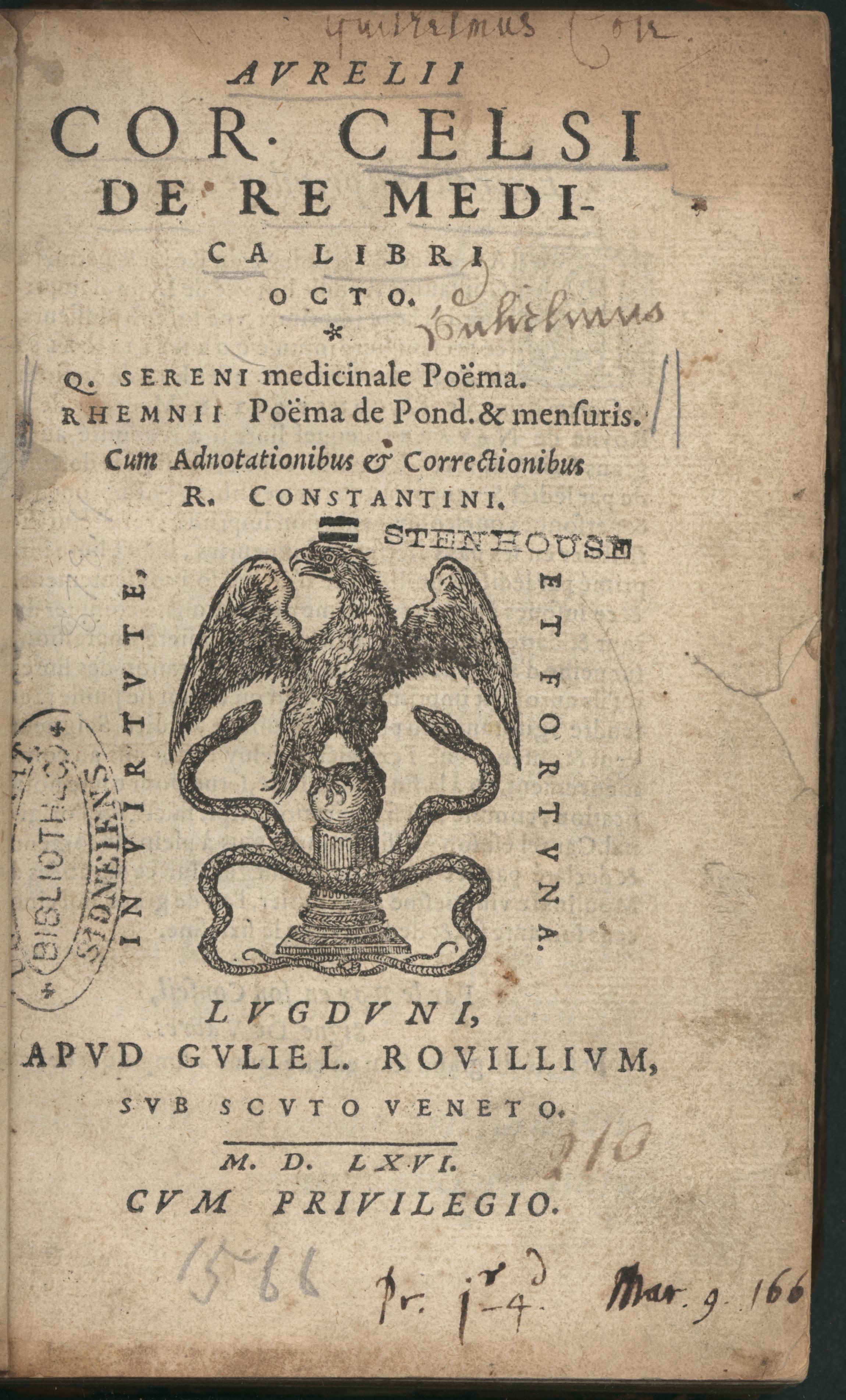 Image From Celsus De Re Medica