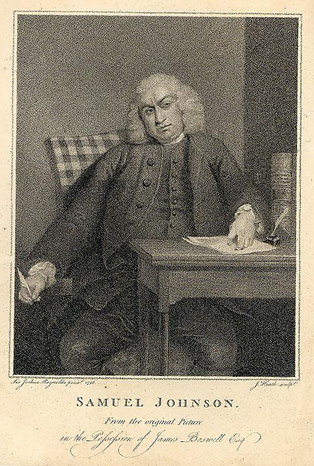 Image from Boswell's Life of Samuel Johnson