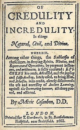 Image from Casaubon's Of credulity and incredulity