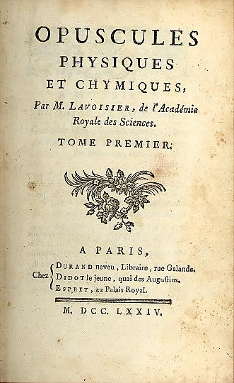 Image from Lavoisier's Opusculum