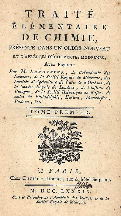 Image from Lavoisier's Traite