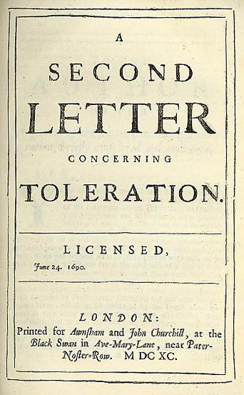 locke essay on toleration A letter concerning toleration by john locke was originally published in 1689 its initial publication was in latin , though it was immediately translated into other.