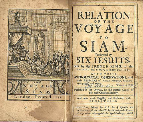 Image from Tachard's Relation of the voyage to Siam